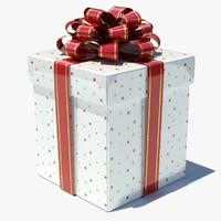 3d box gift white