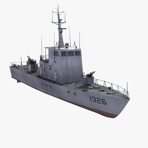 3ds max shanghai2 patrol boat type062