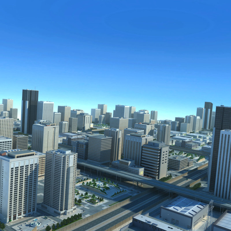 city big cityscape highways max
