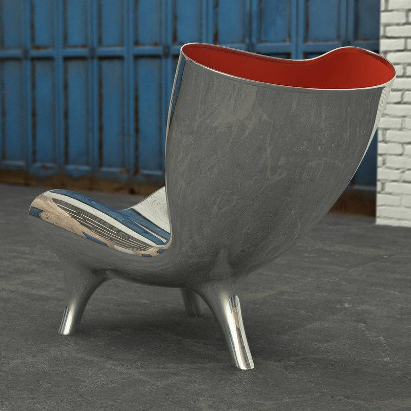 & 3d model orgone chair