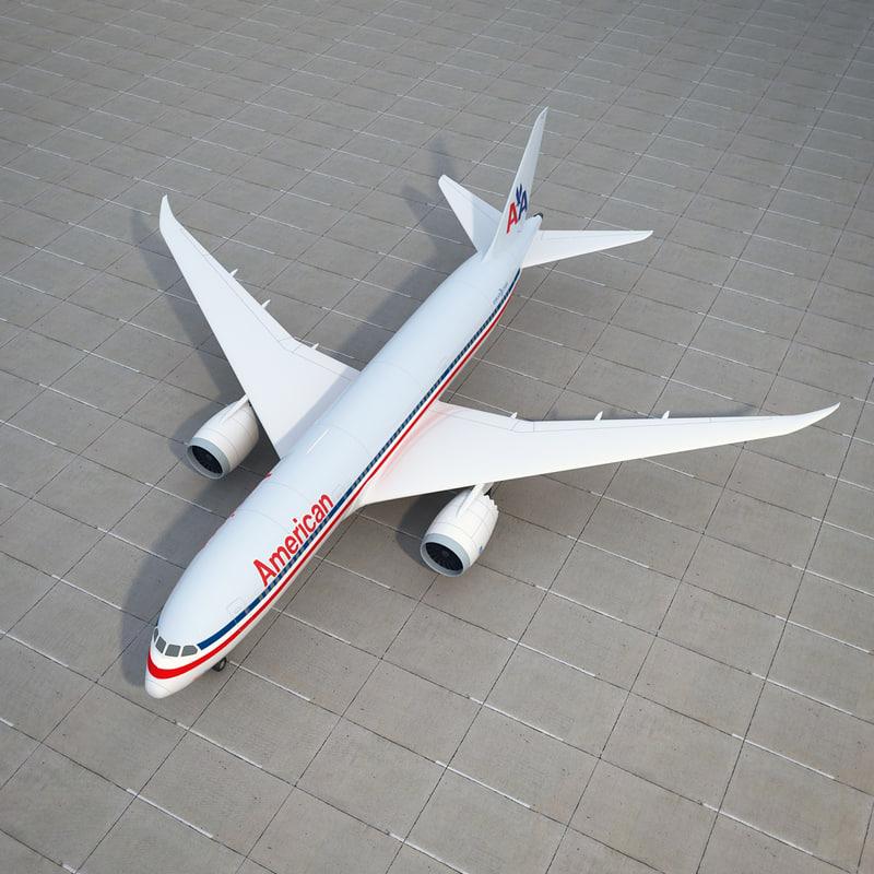 boeing 787 dreamliner 3d max
