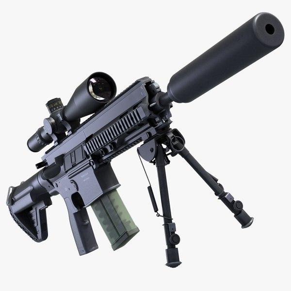 3d model battle rifle 417