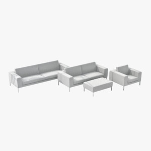 3ds max niels neo sofa couch