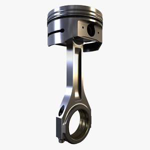 3d model of piston assembly