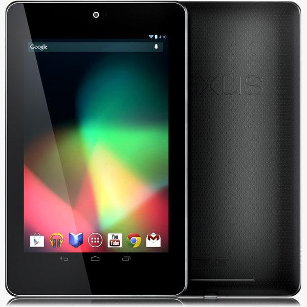 3d model google nexus 7 tablet