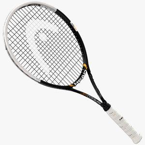 tennis racket head speed 3d model