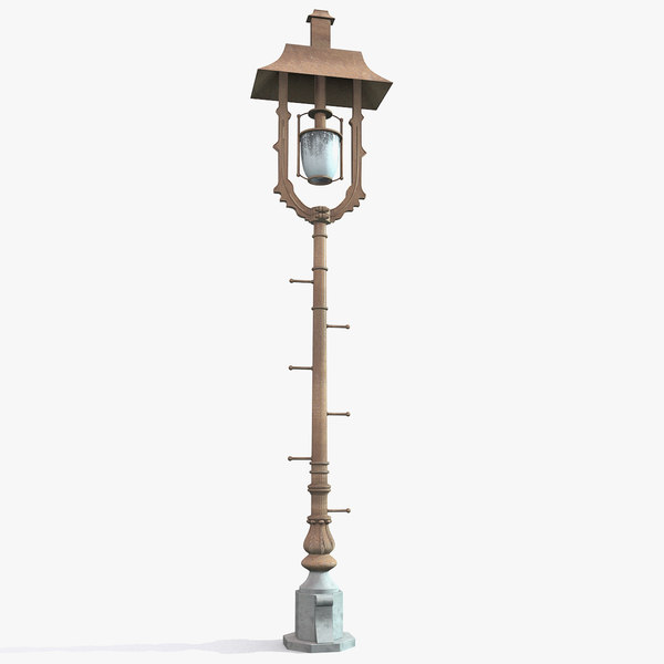 brooklyn bridge streetlight lighting 3d model