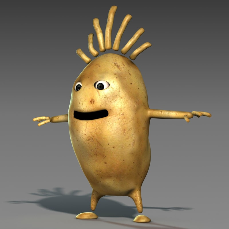 3ds max character cartoon style potato