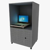 3d model computer rack