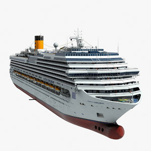 costa concordia cruise ship c4d