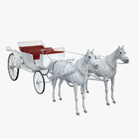 White Landau and Horses(1)