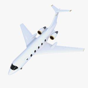 generic private jet 3d model