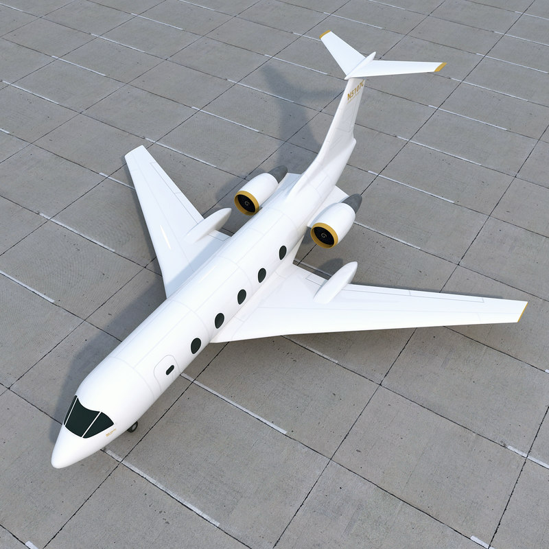 generic private jet 3d model