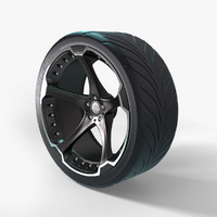 custom wheel tire giovanna 3d max