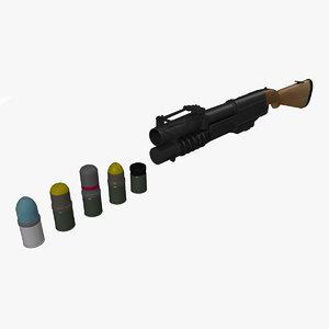 grenade launcher ex-41 ammo 3d 3ds