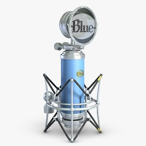 microphone blue bird 3d model