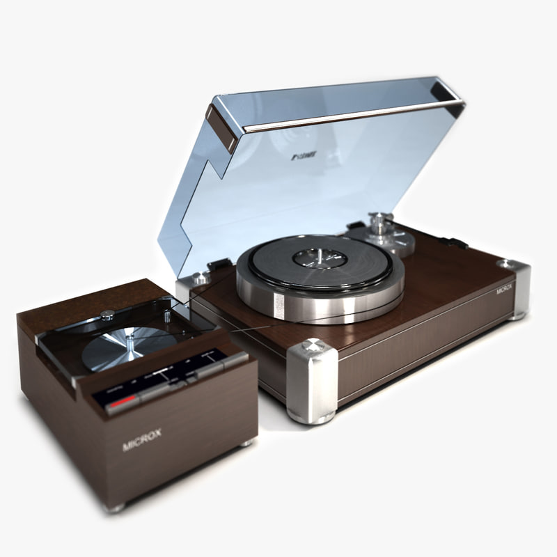 3d model of turntable