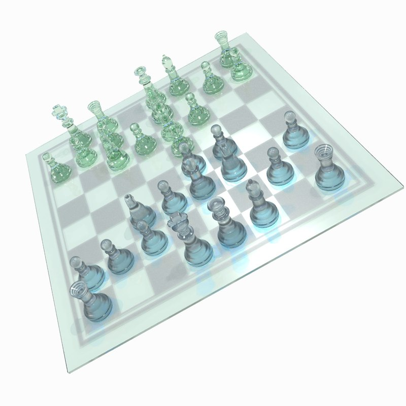 3d model chess checked chessboard