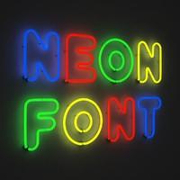 3d neon font