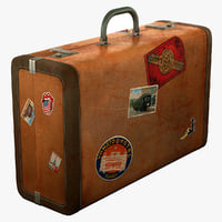 3d model of old suitcase
