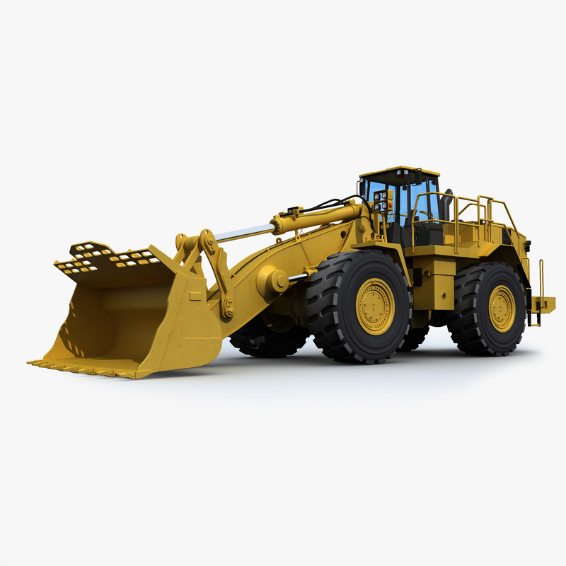 wheel mining loader 3d max
