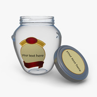 3d gourmet glass jar