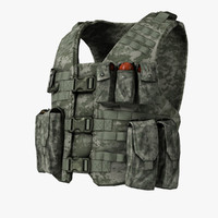 bullet-proof vest cartridge pouch 3d model