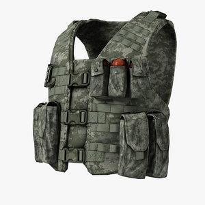 bullet-proof vest cartridge pouch 3d model