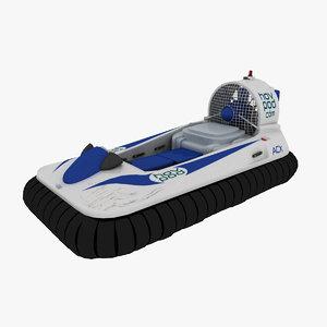 3d model hov pod hovercraft