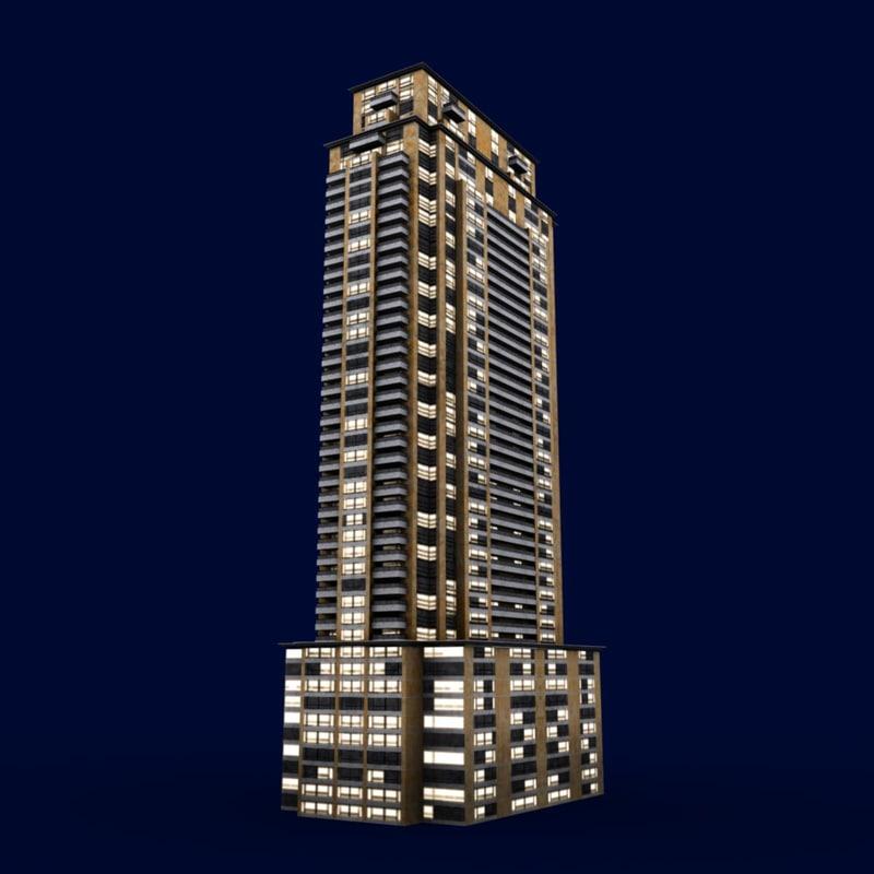 3d model urban apartment chicago ready