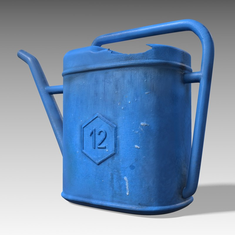 watering using 3d obj