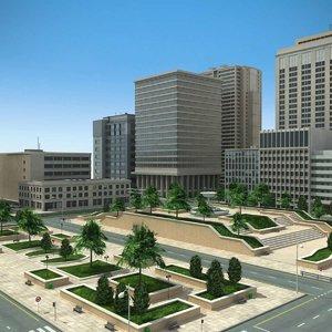 max city cityscape scene buildings