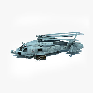 3d mh-60r military helicopter version model
