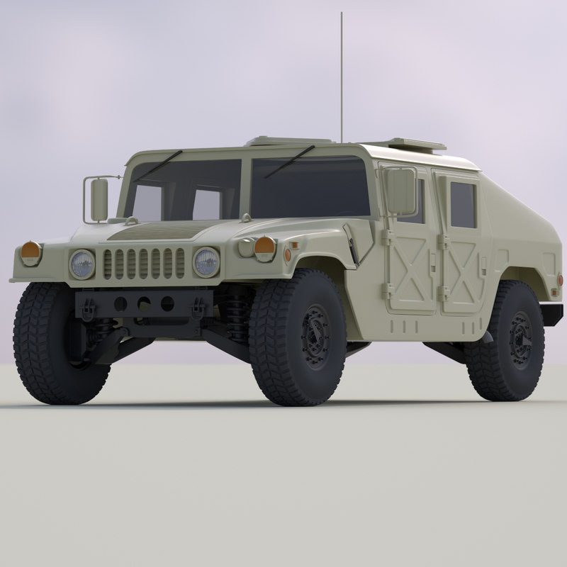 humvee transport 3d model