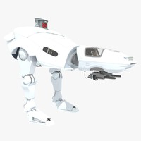 sci-fi combat walker 3d model