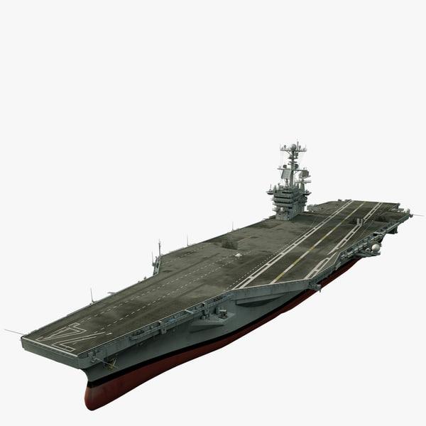 uss c aircraft carrier 3d max