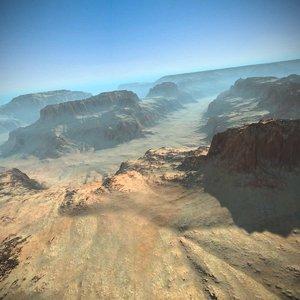 3d model canyon landscape terrain