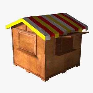 3d model kiosk garden