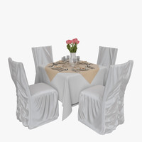 restaurant table 02 chair 3d 3ds