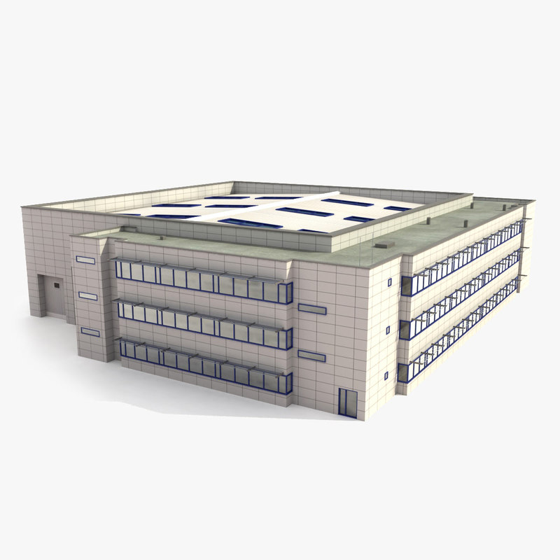industrial building 3d max