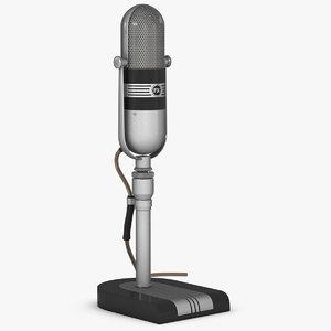 microphone rca 77dx 3d model
