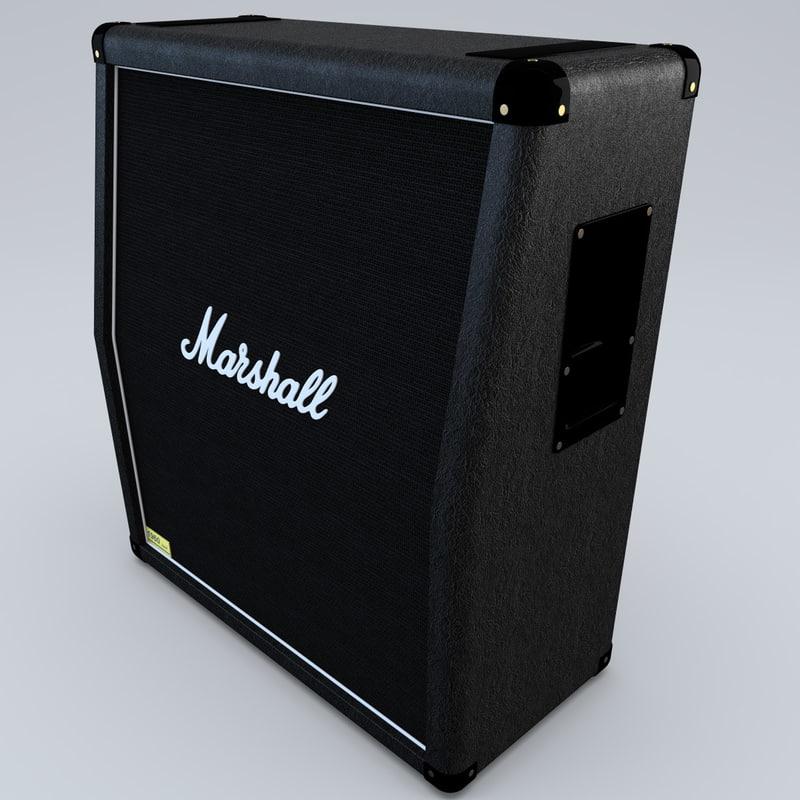 marshall guitar amplifier 3d model