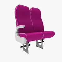 luxury coach seat 4 3d 3ds