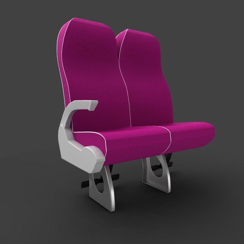 luxury coach seat 4 3d 3ds