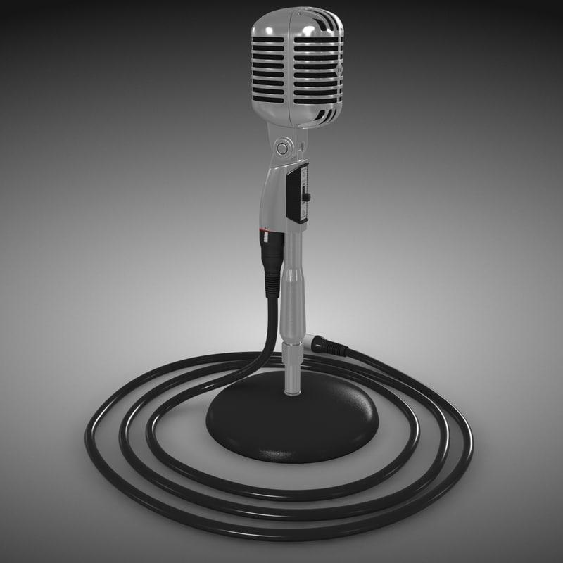 microphone 55sh 3d model