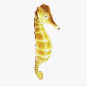 3d model sea horse