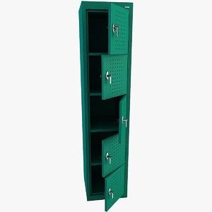 3d locker modelled
