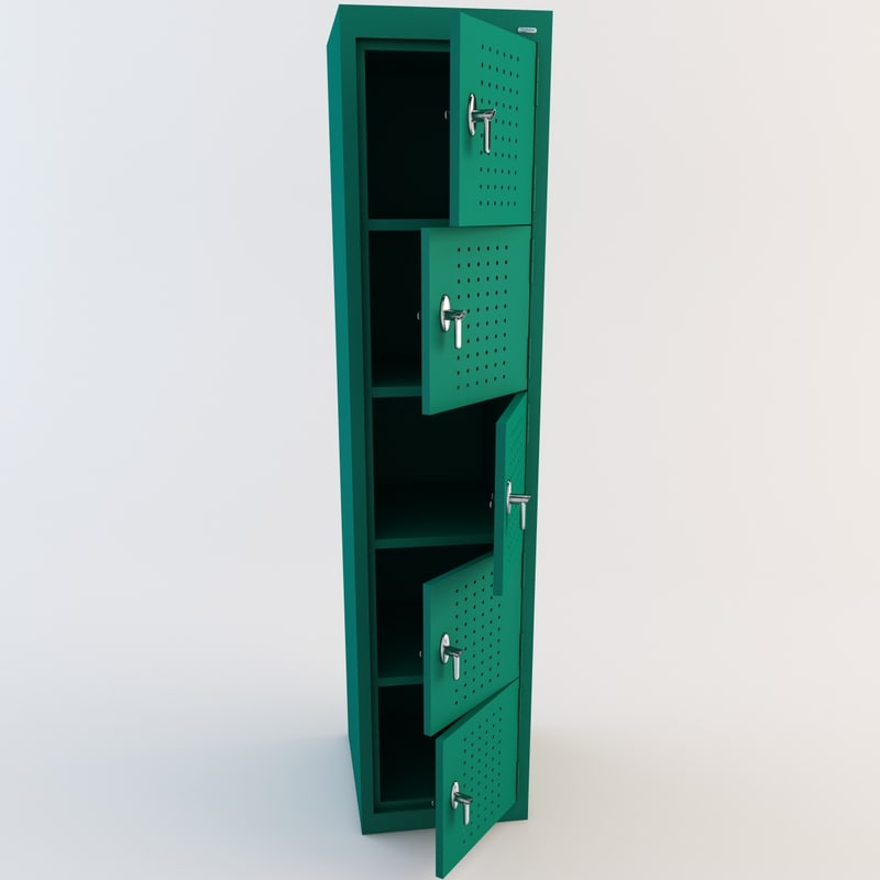 3d locker modelled