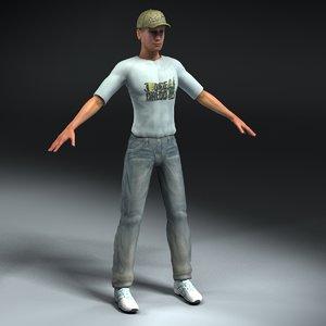 3d model male civilian
