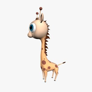 cartoon giraffe obj
